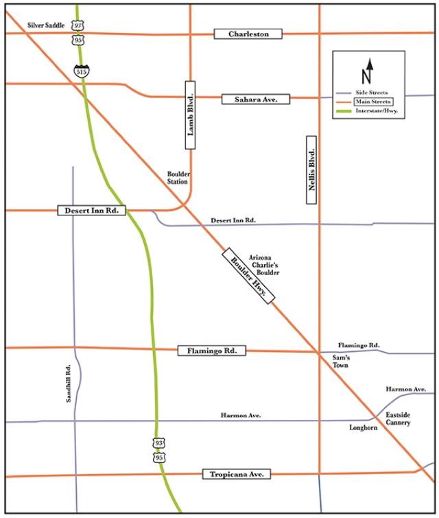 Map Of Arizona Casinos.Faq Transportation Maps Boulder Strip Las Vegas Advisor