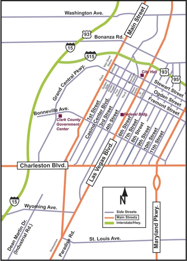 FAQ transportation maps downtown 2 | Las Vegas Advisor on