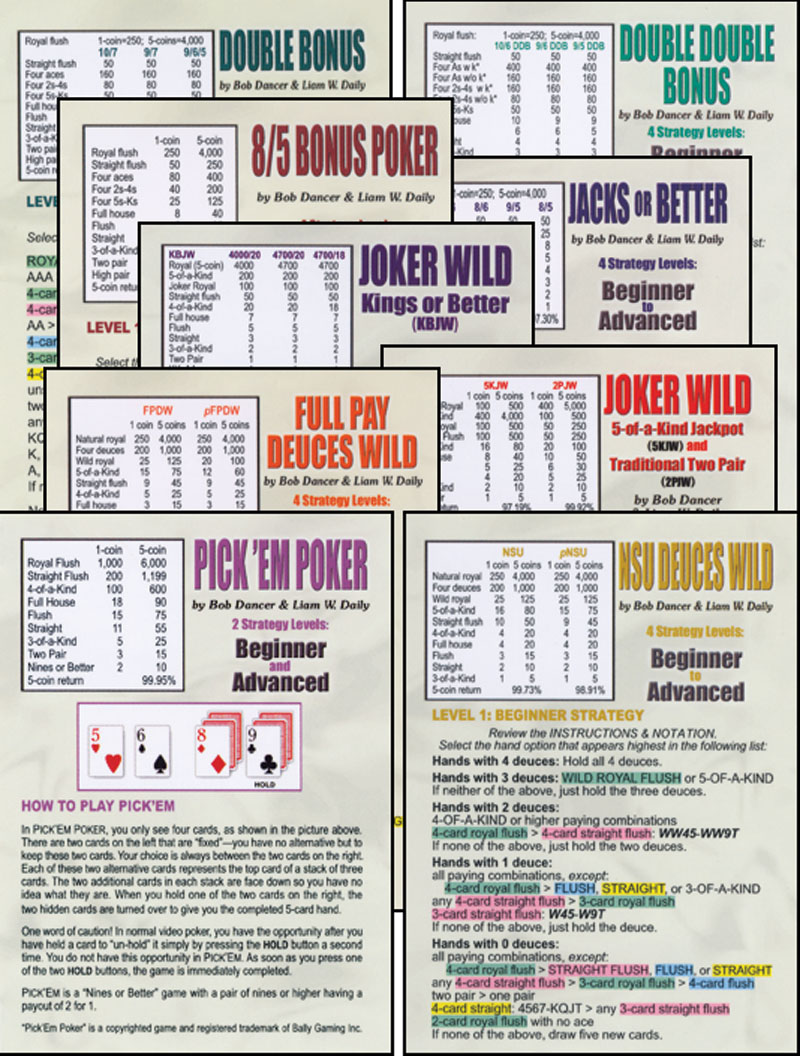Video Poker Strategy Card