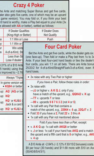 Four Card Poker/Crazy 4 Poker
