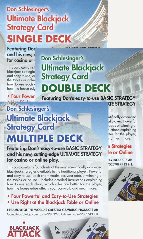 image about Blackjack Strategy Card Printable named Final Blackjack Procedure Playing cards (established of 3)